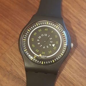 Swatch swiss black unique watch